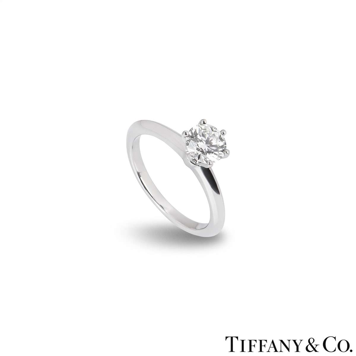 Tiffany & Co. Round Brilliant Cut Diamond Ring 0.86ct H/VVS1 XXX